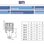 Размеры реактивных штанг для крепления редуктора