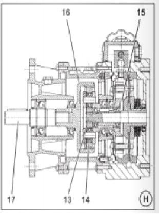 Фото - Габаритные размеры мотор-вариатора MKF + 3-х ступенчатый соосно-цилиндрический редуктор MHLF…/3