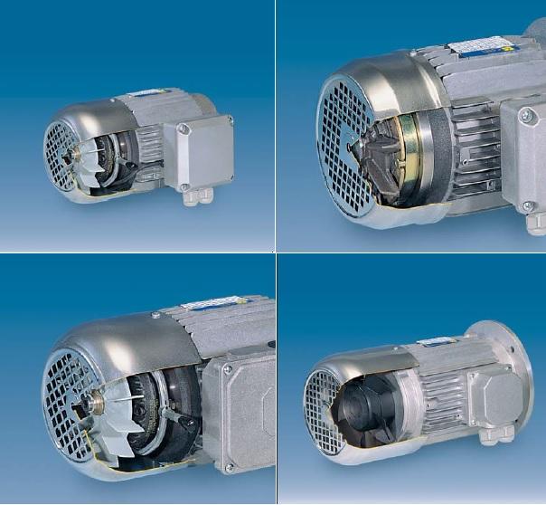 Фото - Электродвигатели асинхронные, трехфазные, с автоматическим тормозом постоянного тока, двуполярные — 4-6, 6-8, 2-8 полюсные — Серия DPF — 400 V — 50 Hz