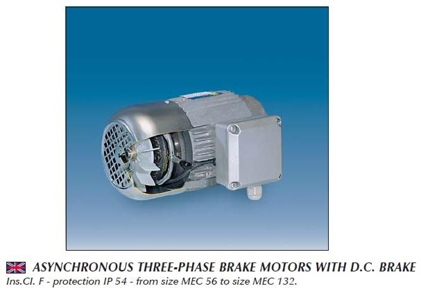 Фото - Электродвигатели трехфазные, с тормозом, 6, 8 полюсные — Серия MAF — 230/400 V — 50 Hz
