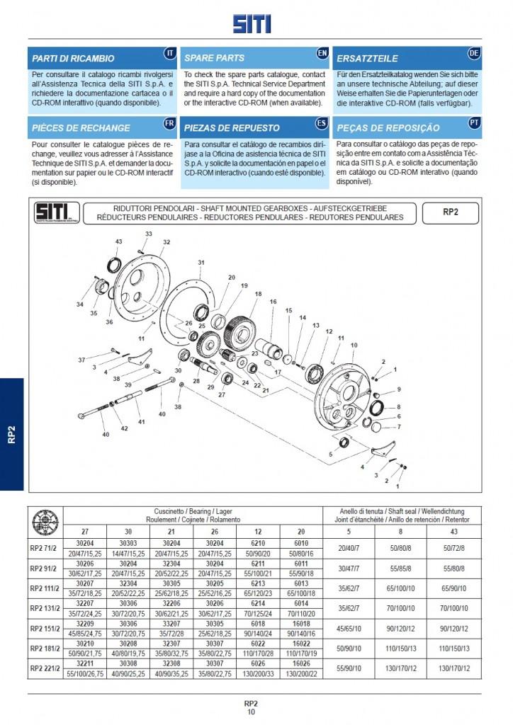 Блок-схема редуктора _ Запчасти серии RP2